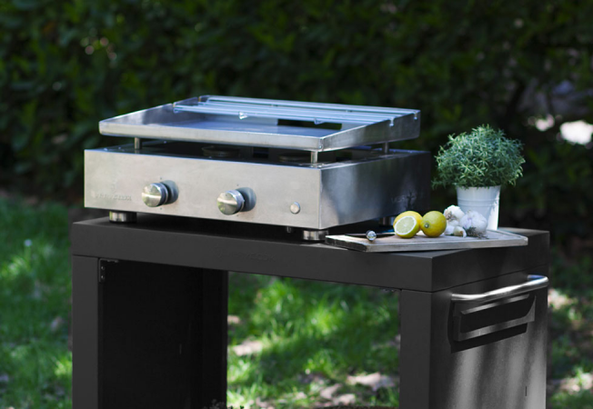 Plancha gas grill SIMPLICITY 2 burners - Enamelled steel plate