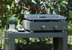 Plancha gas grill SIMPLICITY 2 burners - Stainless steel plate