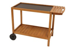 Wooden cart with tray XL