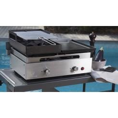 Accessoire combiné plancha barbecue