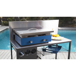 Stainless steel plancha lid