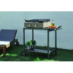 Plancha grill 2 burners - enamelled steel