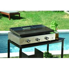 Plancha grill 3 burners - enamelled steel