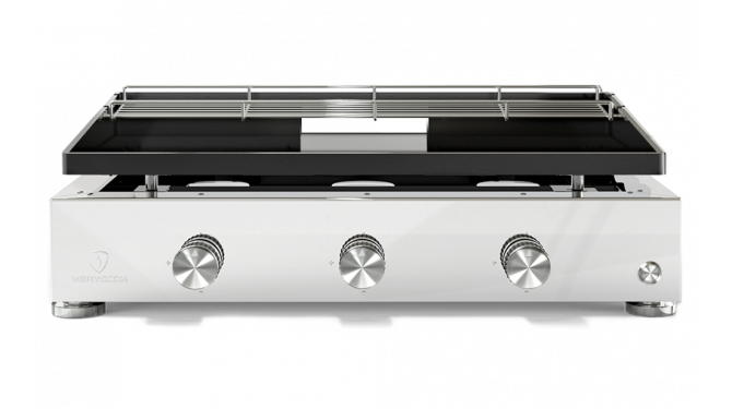 Plancha gas grill SIMPLICITY 3 burners - Enamelled steel plate