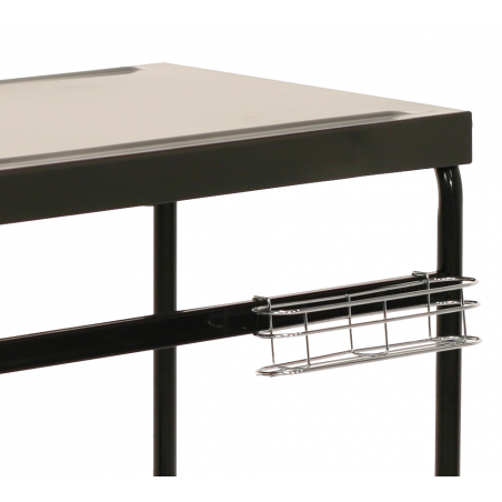 Metal plancha grill table