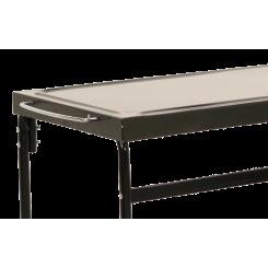 Metal plancha grill table