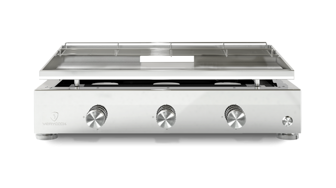 Plancha gas grill SIMPLICITY 3 burners - Stainless steel plate