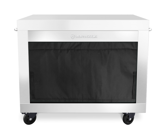 Verytable kitchen trolley XL - Stainless steel - with drawer