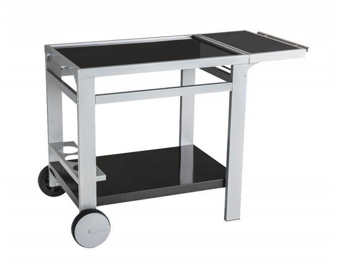 Metal trolley with tray