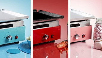 plancha grill cooking surface
